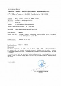 Obnova vodovodu Sepekov